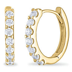 1 CT. TW. Diamond Hoop Earrings in 14K Yellow Gold (H-I, I1)