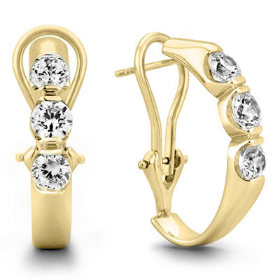 1.45 CT. TW. Diamond Earrings in 14K Yellow Gold (H-I, I1)