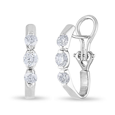 1 CT. TW. Diamond Earrings in 14K White Gold (H-I, I1)