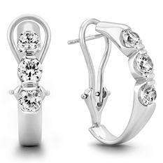 .46 CT. TW. Diamond Earrings in 14K White Gold (H-I, I1)