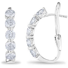 2 CT. TW. Diamond Earrings in 14K White Gold (H-I, I1)