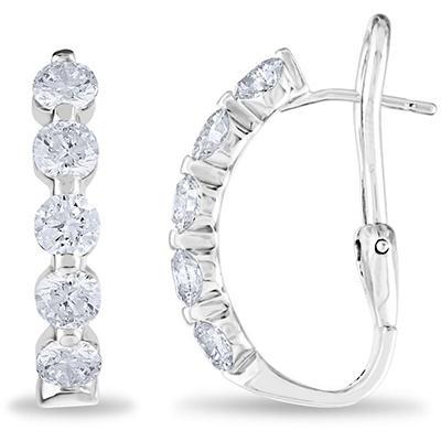 2 CT. TW. Diamond Earrings in 14K White Gold (H-I, I1)