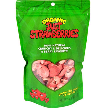 Organic Just Strawberries - 4 oz. pouches - 3 pk.