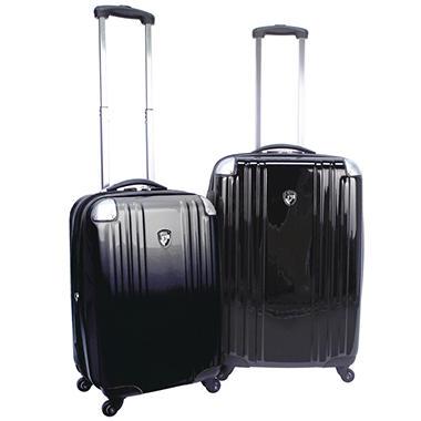 Heys USA Velocity Luggage Set - 2 pc. - Black, Silver or Polka Dot