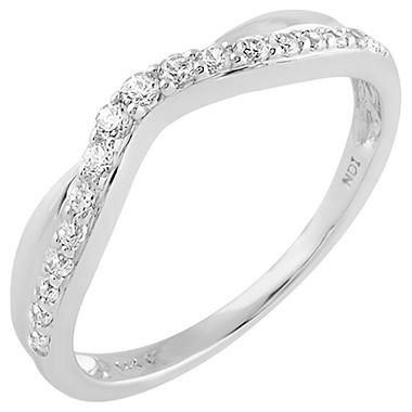 0.25 ct. t.w. Round Cut Diamond Band in 18K White Gold (I, I1)
