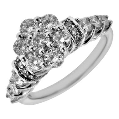 1.50 ct. t.w. Round Cut Diamond Engagement Ring in 14K White Gold (I, I1)