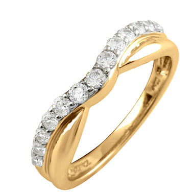 0.50 ct. t.w. Round Cut Diamond Band in 18K Yellow Gold (I, I1)