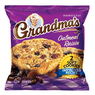 Grandma's Oatmeal Raisin Cookie - 2 cookies per pk. - 60 ct.