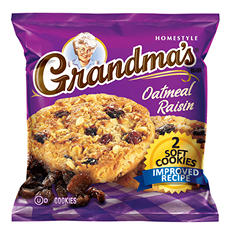 Grandma's Oatmeal Raisin Cookie - 2 cookies per pk. - 60 ct.