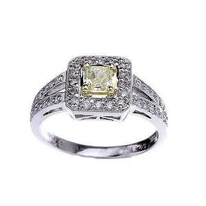 .70 ct. t.w. Natural Yellow Diamond Ring (H-I, I1)