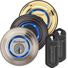 Kwikset Kevo Bluetooth Enabled Deadbolt w/ Two Kevo Key Fobs
