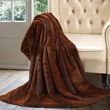 Luxury Faux Fur Throw (Assorted Patterns)