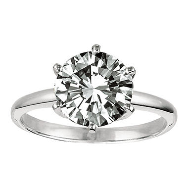 0.45 ct. Round Diamond Solitaire Ring in Platinum (F, VS2)