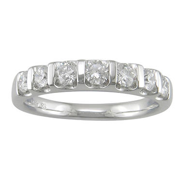 0.75 ct. t.w. 7-Stone Diamond Band in 14K White Gold (H-I, I1)