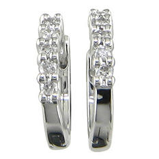 0.15 ct. t.w. Diamond Hoop Earrings in 14K White Gold (H-I, I1)