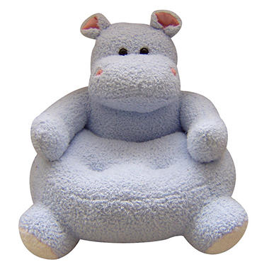 23 round blue hippo plush animal chair sam 39 s club