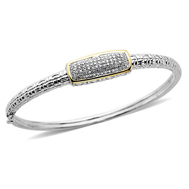 0.25 ct. t.w. Diamond Bangle Bracelet in Sterling Silver and 14k Yellow Gold (H-I, I1)
