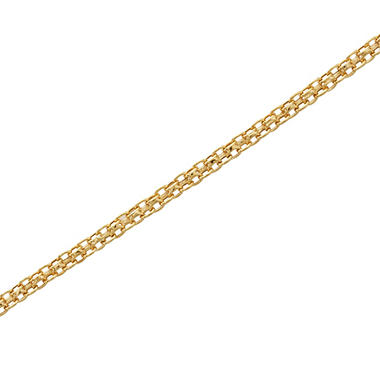 "Adjustable 8-11"" Adjustable Bismark Ankle Bracelet in 14K Yellow Gold"