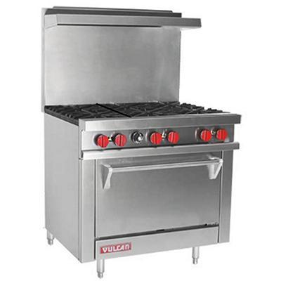 """Vulcan V36-2 36"""" Propane Gas 6 Burner Range with 1 Oven"""