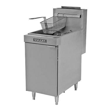 Vulcan LG500-1 Capacity Free-Standing Natural Gas Fryer - 65-70 lbs.