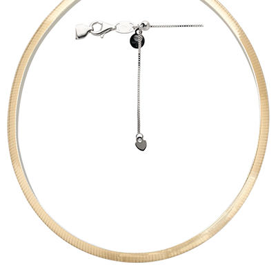 Love, Earth® Adjustable and Reversible Omega Necklace