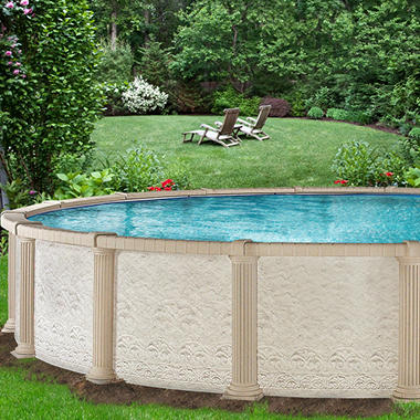 Everlast? Colonnade Round Pool Pkg - 27' x 54'