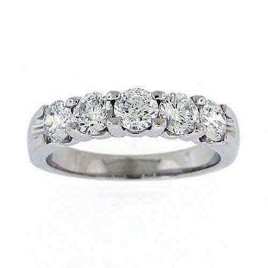 1.45TW DIAMOND RING 5-STONE ROUND