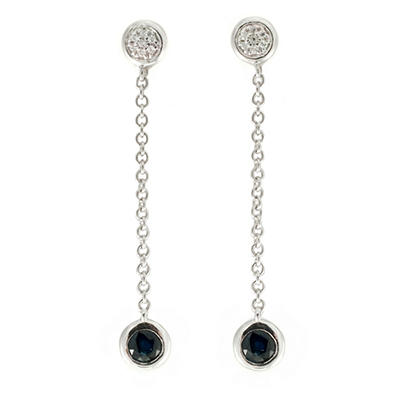 .70 ct. t.w. Sapphire and Diamond Color Strand Earrings