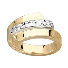 Two-Tone Italian Ring in 14K Gold