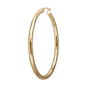 Large Hoop Earrings in 14K Yellow Gold