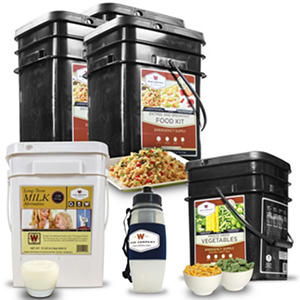 Wise Company 3-Month Premium Gluten-free Food Supply (1 Adult), or 1 Month Supply for 3 Adults