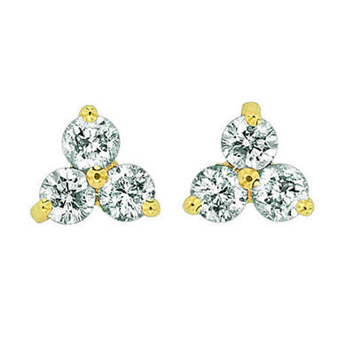.50 ct. t.w. Three-Stone Diamond Earrings (I, I1)