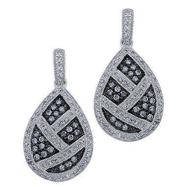.75 ct. t.w. Silvermist Diamond Teardrop Earrings
