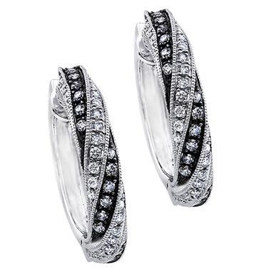 .75 ct. t.w. Silvermist Diamond Swirl Earrings