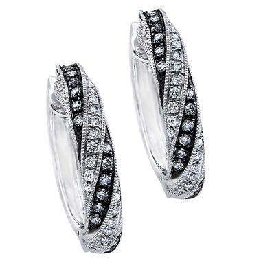 .75 ct. t.w. Silvermist Diamond Swirl Earrings