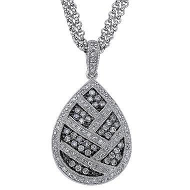 .75 ct. t.w. Silvermist Diamond Teardrop Pendant
