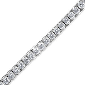 6.95 ct. t.w. Diamond Tennis Bracelet in 14k White Gold (H-I, I1)