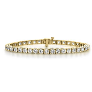 17.14 CT. T.W. Diamond Tennis Bracelet in 14K Gold (H-I, I1)