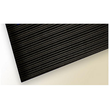 So-Soft Anti-Fatigue Mat - 3' x 10' - Black Ribbed Surface