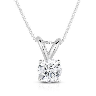 0.30 CT. TW. Round Cut Regal Diamond Pendant in 14K White Gold
