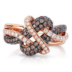 0.95 CT. TW. Fancy Brown Diamond Ring in 14K Rose Gold