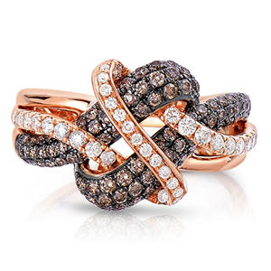 0.95 CT. TW. Fancy Brown Diamond Ring in 14K Rose Gold