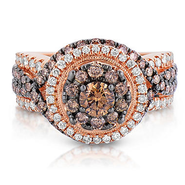 1.95 CT. TW. Fancy Brown Diamond Ring in 14K Rose Gold
