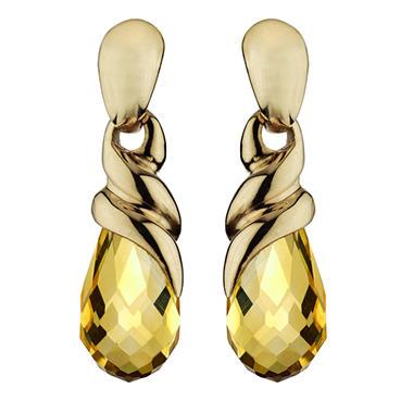 5.50 ct. t.w. Briolette-Cut Checkerboard Earrings in 14k Yellow Gold