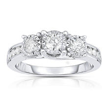 0.95 ct. t.w. Diamond Ring in 14K White Gold (HI,I1)