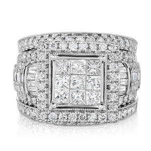 2.95 CT. T.W. Diamond Fashion Ring in 14K White Gold (HI, I1)