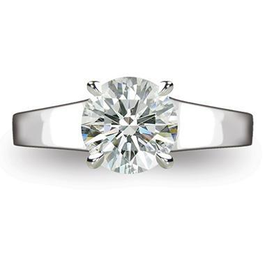 2.14 ct. Round Brilliant-Cut Diamond Solitaire Ring in Platinum (I, VS2)