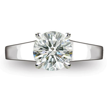 2.14 ct. Round Brilliant-Cut Diamond Solitaire Ring in Platinum (I, VS2)