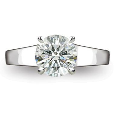 2.14 ct. Round Brilliant Diamond Solitaire Ring in Platinum  (H, VS2)