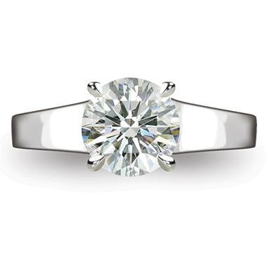 2.12 ct. Round Brilliant Diamond Solitaire Ring in Platinum  (I, VS1)